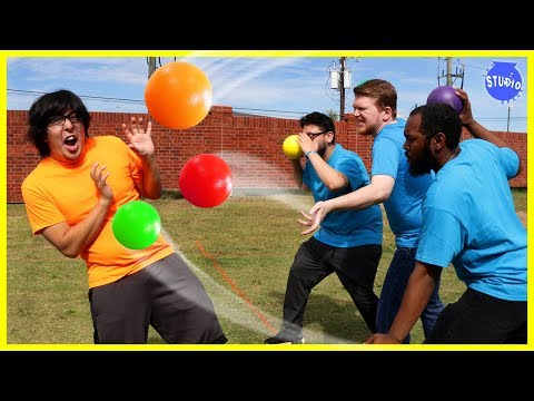 CRAZY DODGEBALL GAME ! ORANGE TEAM VS BLUE TEAM