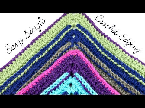 Easy Single Crochet Edging