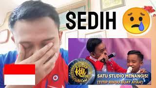 Betrand Peto nyanyi lagu untuk ayah angkatnya 😢 - Titip Rindu Buat Ayah  (Malaysia Reaction)
