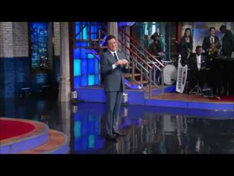 Thumbnail: Stephen Colbert meeting his wife