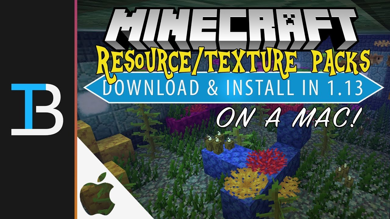 How to Download & Install Resource Packs/Texture Packs in Minecraft 1.13 on a Mac - YouTube