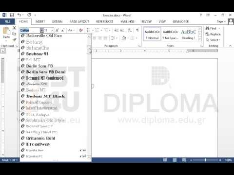 Insert a Rich Text Content Control, with font Arial and font size 16