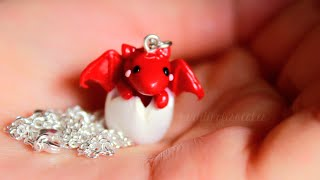 Diy: Baby Dragon Necklace Polymer Clay Tutorial (collab W/ Littlesurprisesyt)