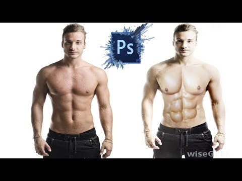Photoshop cs6 Tutorial: How to make 6 pack in Abs by AKS
