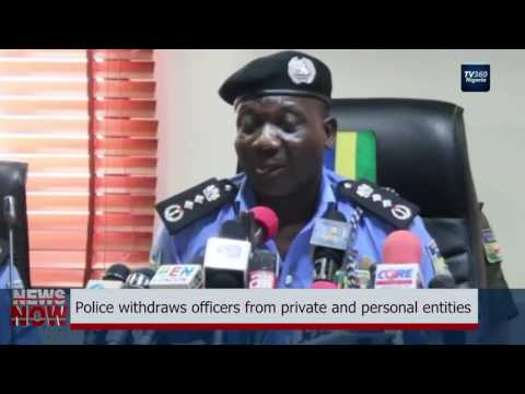 Police withdraws officers from private and personal entities