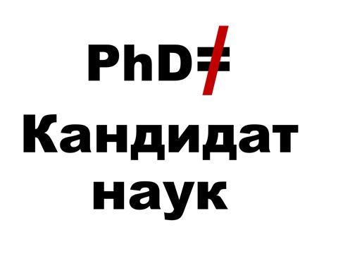 phd и Кандидат Наук thesis vs Кандидатская Диссертация  thesis vs Кандидатская Диссертация