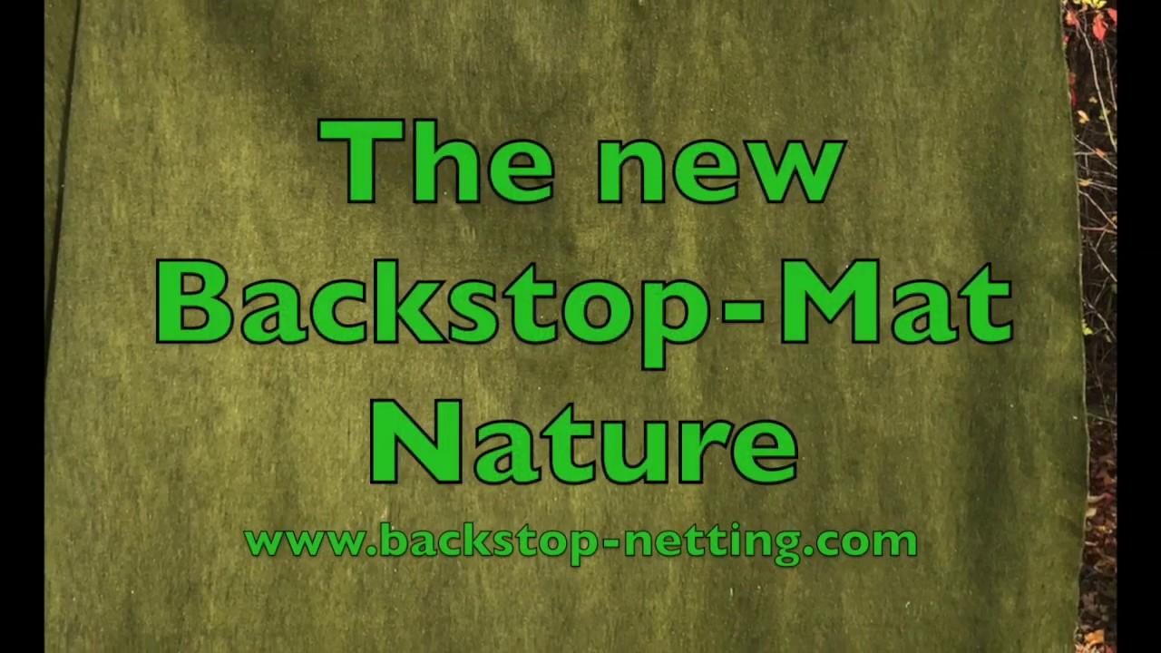 4m Backstop-Mat Maximum Safe x 2m wide high incl fixtures