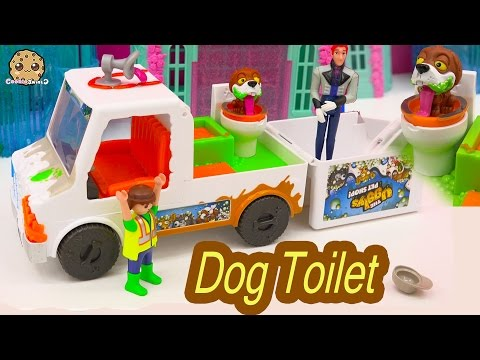 Frozen Prince Hans Works For The Ugglys Pet Shop  Dirty Dog Bath + Poop Toilet Van With Exclusive