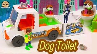 Frozen Prince Hans Works for The Ugglys Pet Shop  Dirty Dog Bath + Poop Toilet Van with Exclusive