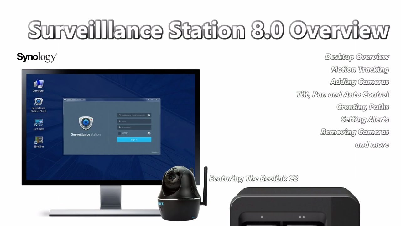 Surveilllance Station 8 0 Overview - Setting up a Reolink C2 IP Camera with  your Synology NAS
