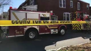 Download Video Live video from fatal house fire in Harrisburg, Pa. MP3 3GP MP4