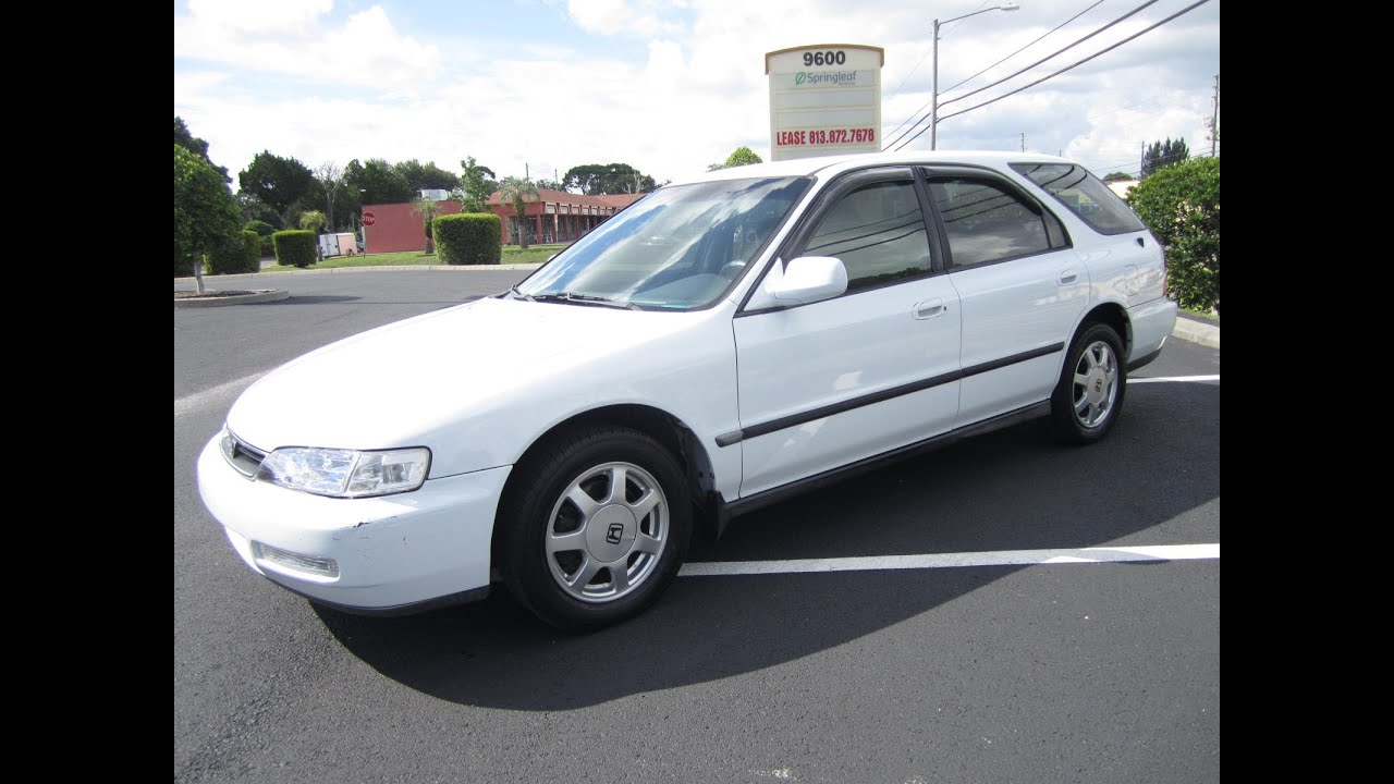 White Honda Accord >> SOLD 1996 Honda Accord LX Wagon Meticulous Motors Inc ...