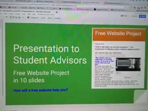 A guide for students about free websites, digital portfolios, how to get into college