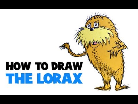 how to draw the lorax bears