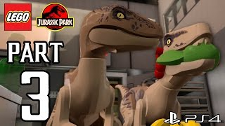LEGO Jurassic World Walkthrough PART 3 (PS4) Gameplay No Commentary[1080p] TRUE-HD QUALITY