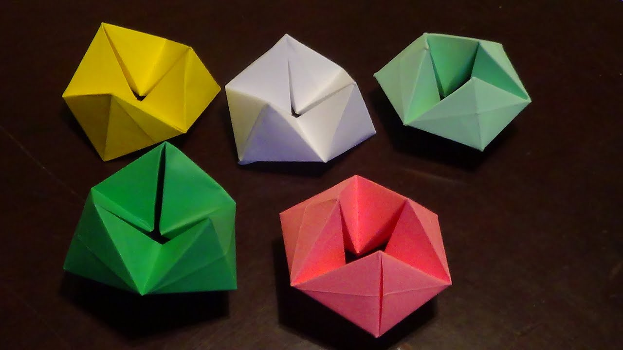Papercraft Origami Hexaflexagon tutorial - How to make a Hexaflexagon