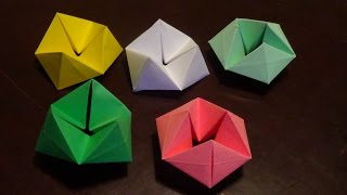 Origami Hexaflexagon tutorial - How to make a Hexaflexagon