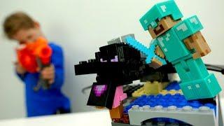 Стив, Алекс и Егор захватывают алмазную шахту Майкрафт