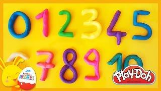 Apprendre les chiffres en français pour enfants en pâte à modeler Play-doh - Titounis