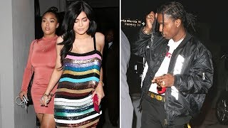 Kylie Jenner Sexy In Sequin Dress While Dining With Asap Rocky