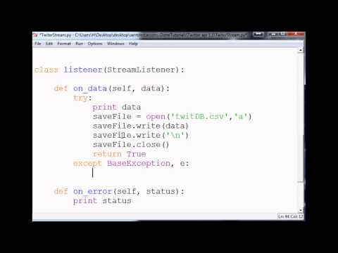 Saving Tweets: How To Use The Twitter API V1.1 With Python To Stream Tweets