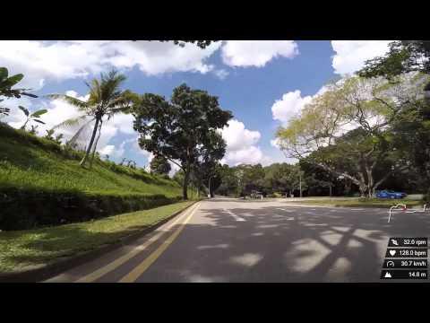 Cycling through Lim Chu Kang, Kranji, Mandai Road and Sembawang on a road bike
