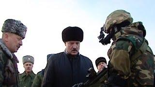 Президент посетил одно из самых элитных и боеспособных подразделений Вооружённых Сил Беларуси