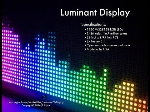 Luminant Display: A Stunning, Ultra Bright & Dense, RGB LED Display