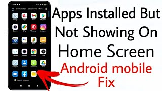 installed apps not showing on home screen || Apps installed but not displaying on the home screen screenshot 5