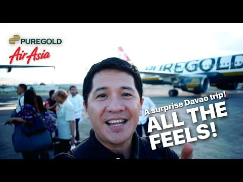 A surprise Davao trip for Aling Puring members by Puregold and AirAsia!