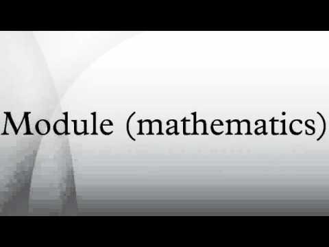Module (mathematics)