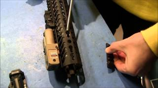 How to install a Keymod accessory:  The new tacticool in AR15 stuff