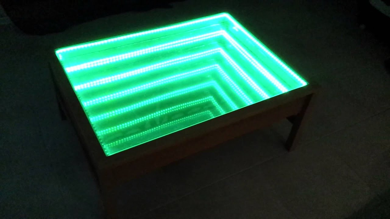 table basse led trou noir