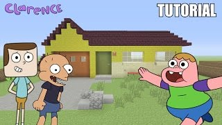 """Minecraft Tutorial: How To Make """"Clarence's"""" House!! """"Clarence"""" (Survival House)"""