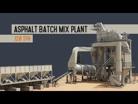 Asphalt batch plant - road construction equipment.