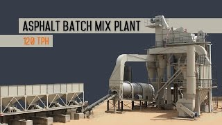 Asphalt batch plant - road construction equipment.
