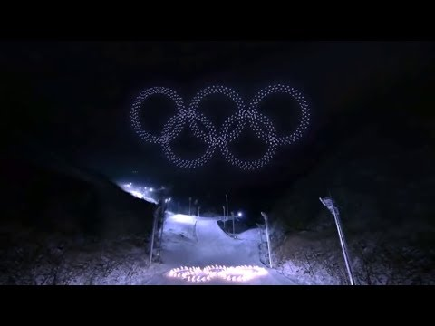 Korea Winter Olympic Games ceremony Drones record