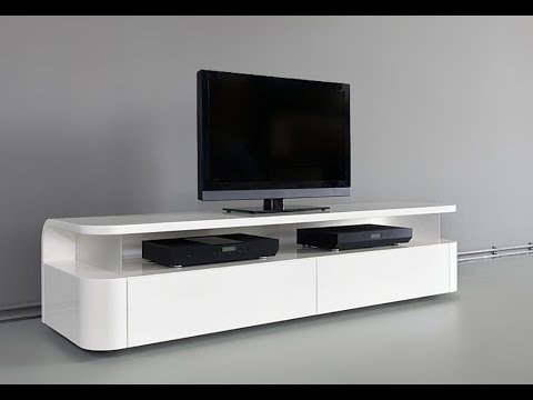 Modern tv stand design ideas fit for any home youtube for Table tv design