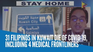 31 Filipinos in Kuwait die of COVID-19, including 4 medical frontliners