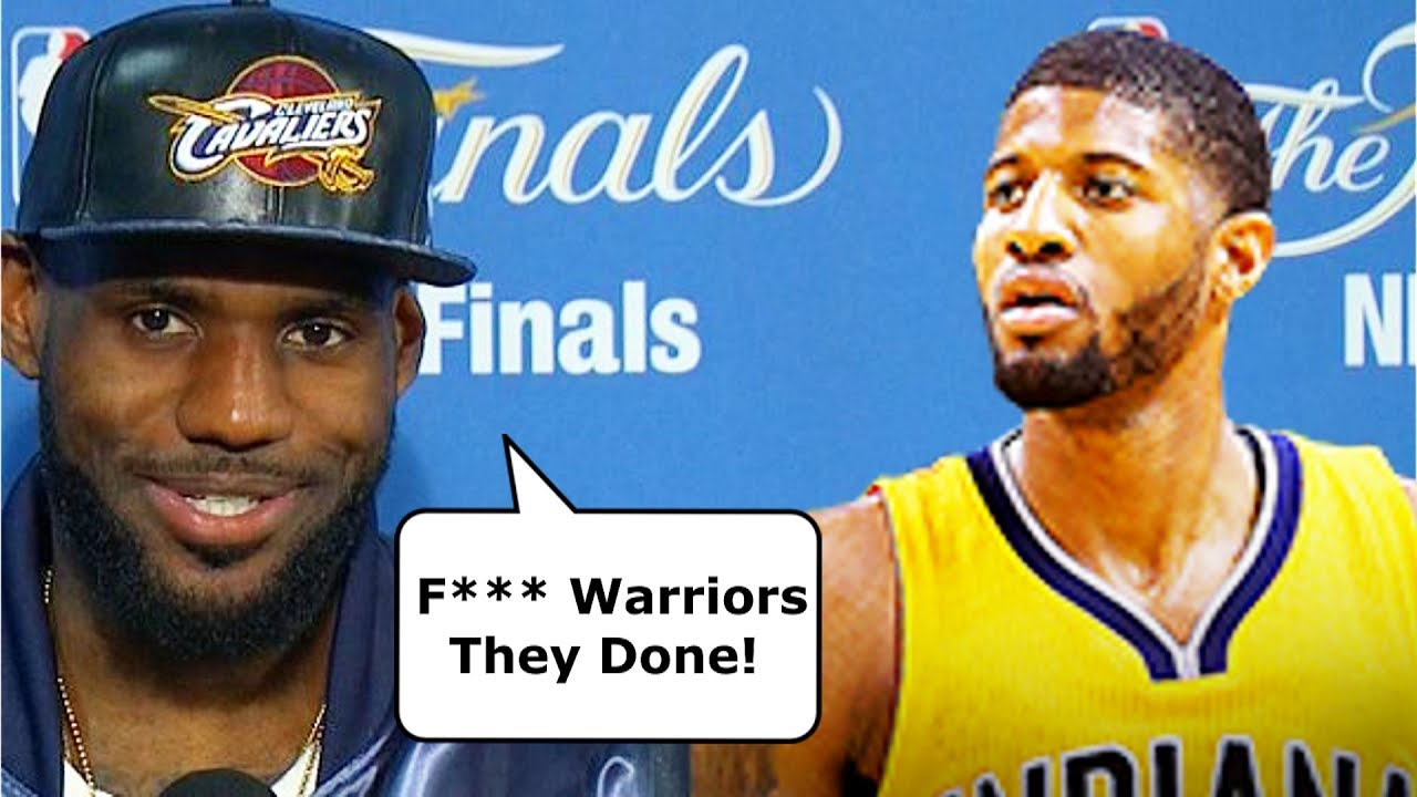 04a0c57ee4b LeBron James Reacts To Paul George Trade To OKC Thunder - YouTube