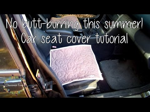 How To Diy Car Seat Cover Tutorial