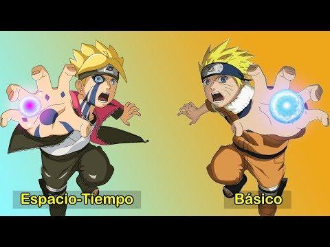 Rasengan de Naruto Uzumaki vs Rasengan de Boruto Uzumaki   螺旋丸 の ナルト VS 螺旋丸 の ボルト