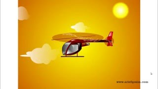 Animasi gerakan helikopter, helicopter motion picture