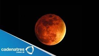 ¡IMPRESIONANTE! Imágenes del eclipse lunar 14 de abril 2014
