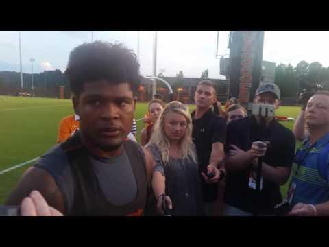 Post Practice 1 - Tennessee LB Darrin Kirkland Jr.