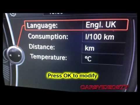 HOW TO Change / modify Language, Units on BMW iDrive