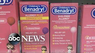 Urgent warning for parents regarding antihistamines