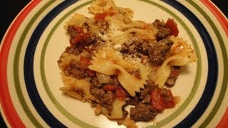 Bow Tie Pasta With Tomatoes And Ground Beef