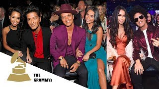 Jessica Caban and Bruno Mars's love moments at the Grammys