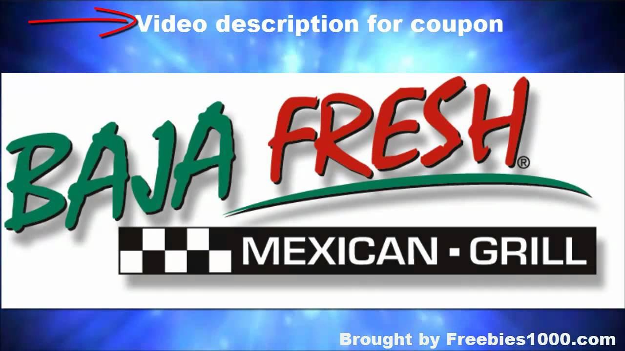 photograph about Baja Fresh Coupons Printable identify Baja Clean Coupon codes - Baja Contemporary Mexican Grill Coupon codes